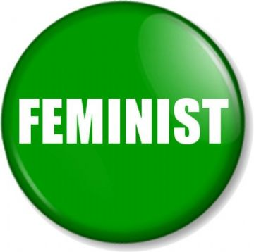 "FEMINIST 1"" Pin Button Badge Feminism Women's Rights Equality Activist - Green"